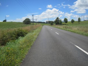 Short diversion on quiet country roads